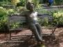 Dallas Texas Arboretum statues April 7 2017
